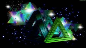 3D Triangle Wallpaper