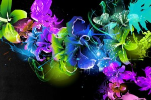 3D Flowers Wallpaper